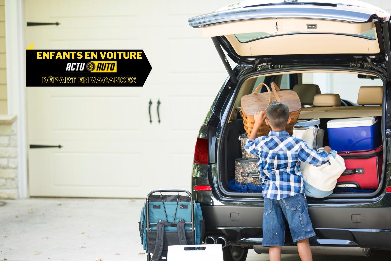Enfants en voiture : bien préparer son départ en vacances